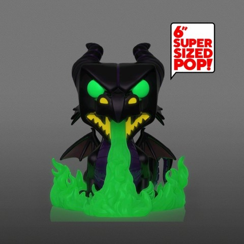 Maleficent as Dragon w Flames Metallic Glow Pop Vinyl