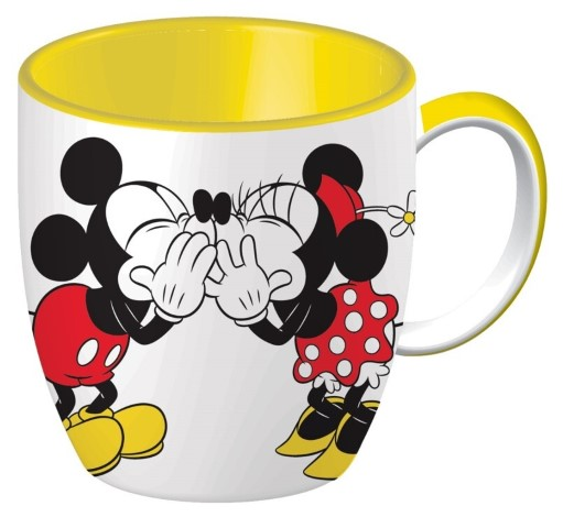 Mickey & Minnie Mouse Kissing Ceramic Mug
