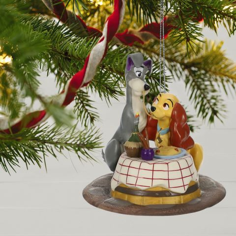 Lady and the Tramp A Beautiful Night Porcelain Ornament