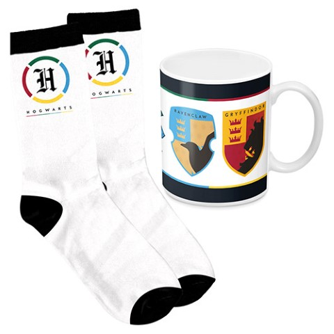 PREORDER  Harry Potter 4 Houses Mug and Sock Pack