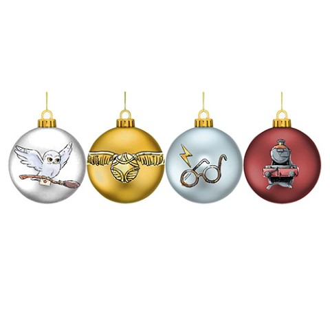 PREORDER Harry Potter Set 4 Glitter Baubles