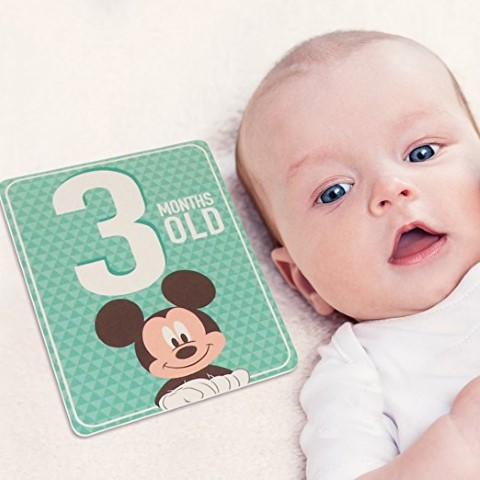 Disney Baby Boys Mickey Mouse Milestone Photo Sharing Cards