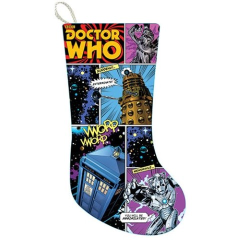 Doctor Who Comic Strip Print Stocking