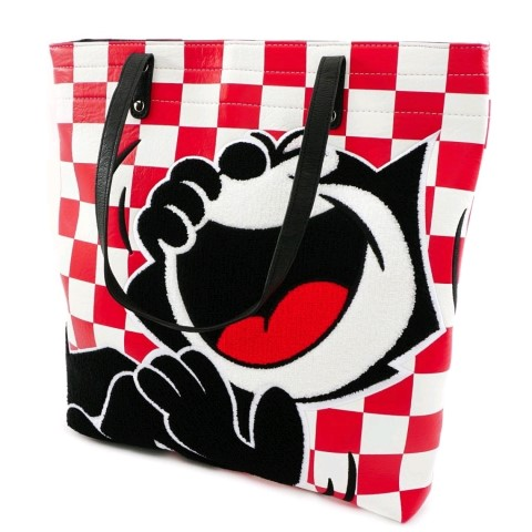 Felix the Cat Red Check Tote