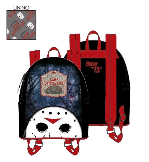 Friday the 13th Camp Crystal Lake Mini Backpack