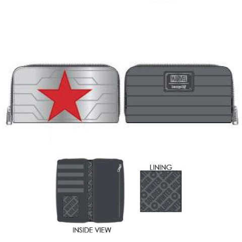 Marvel Winter Soldier Cosplay Zip Around Wallet