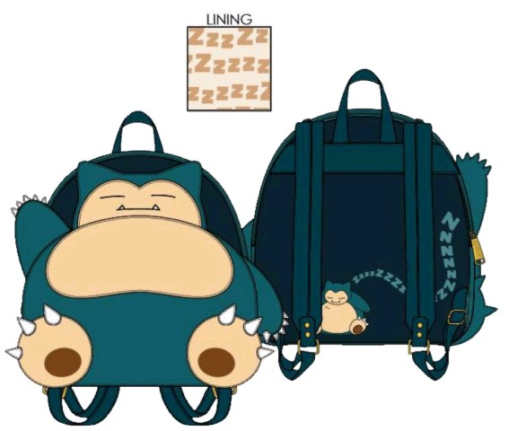 Pokemon Snorlax Cosplay Mini Backpack