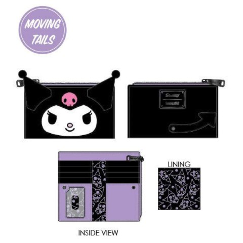 Kuromi Cosplay Flap Wallet