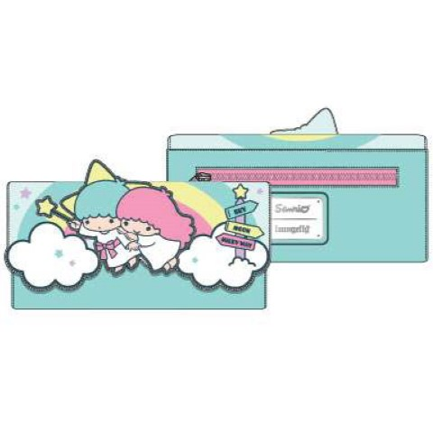 PREORDER Sanrio Little Twin Stars Rainbow Trifold Wallet