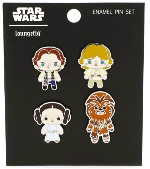 Star Wars Chibi Enamel Pin 4pk