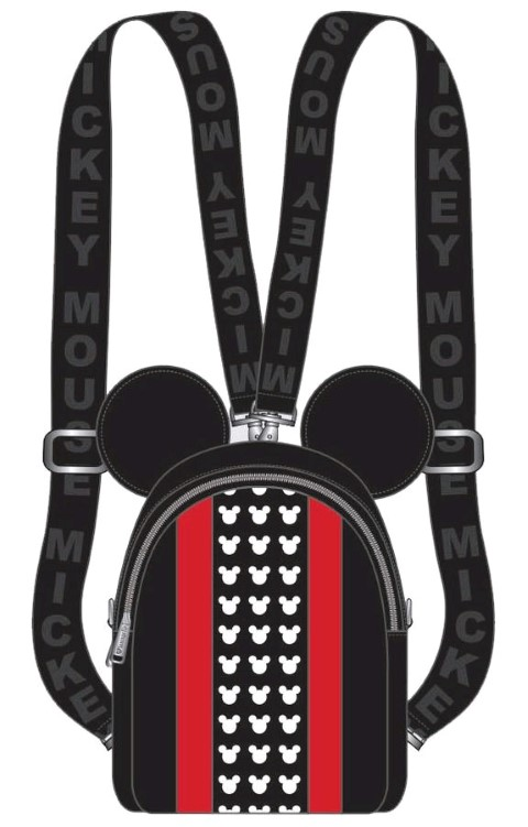 Mickey Mouse Red Stripe and Ears Backpack