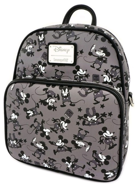Mickey Mouse Plane Crazy B&W Backpack