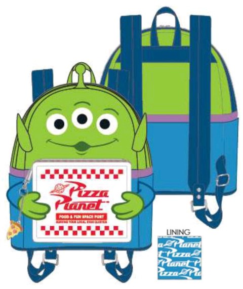 PREORDER  Toy Story Alien with Pizza Box Mini Backpack