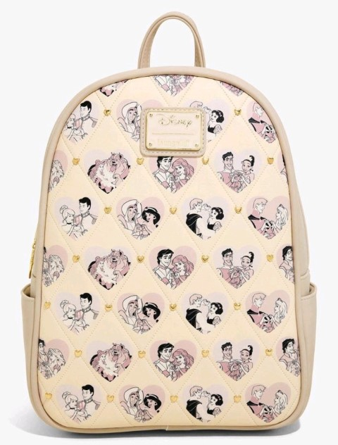 Disney Princess Couples Valentine Backpack