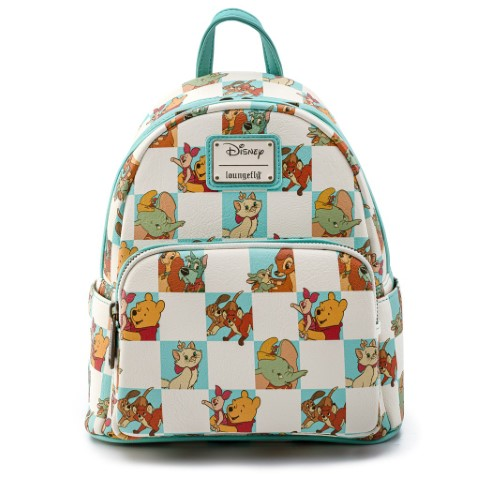 Disney Multi Character Checker Mint Mini Backpack