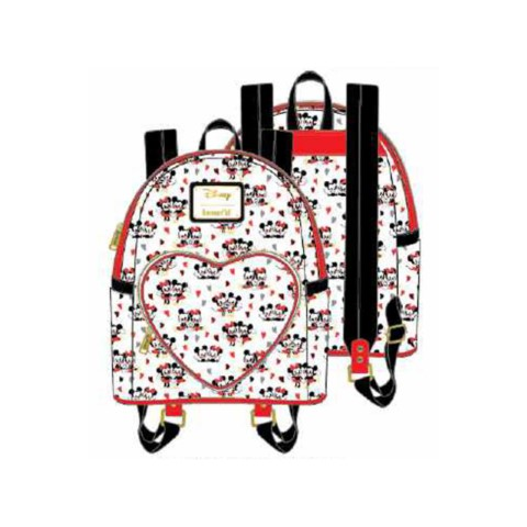PREORDER Mickey and Minnie Mouse Heart AOP Mini Backpack