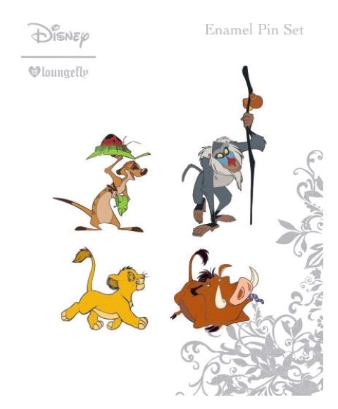 Lion King Enamel Pin 4pk