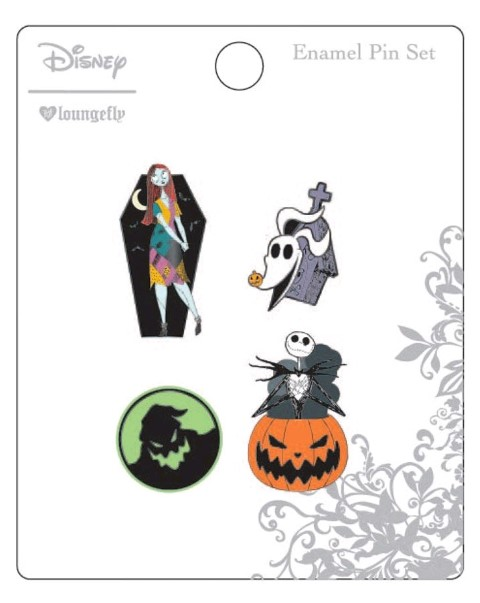 Nightmare Before Christmas Enamel Pin 4Pk