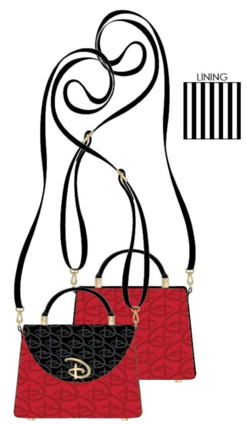 PREORDER  Disney Red & Black Logo Crossbody Bag