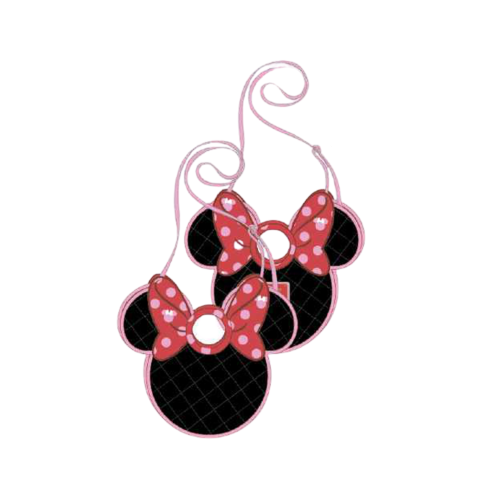 PREORDER Minnie Mouse Quilted Bow Head Crossbody Bag