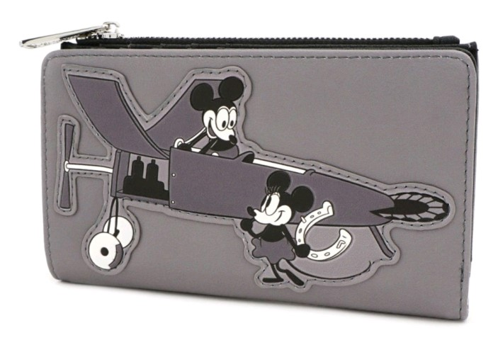 Mickey Mouse Plane Crazy B&W Wallet