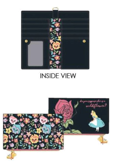 Alice in Wonderland Flowers Wallet