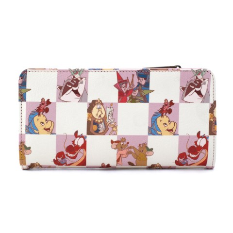 Disney Best Friends Characters Rose Checker Flap Wallet