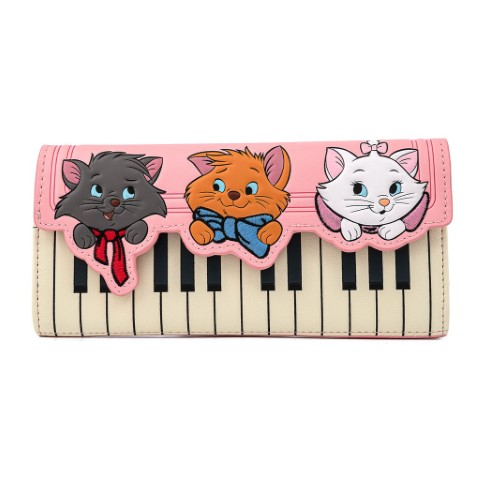 Aristocats Piano Kitties Trifold Wallet