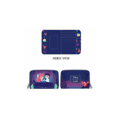 PREORDER The Little Mermaid Gondola Scene Zip Around Wallet