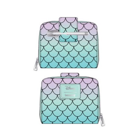 PREORDER Little Mermaid Ombre Scales Zip Wallet