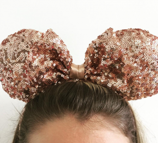 Minnie Mouse Rose Gold Sequin Headband