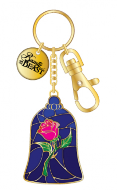 Beauty & The Beast - Enchanted Rose Bag Clip-Keychain