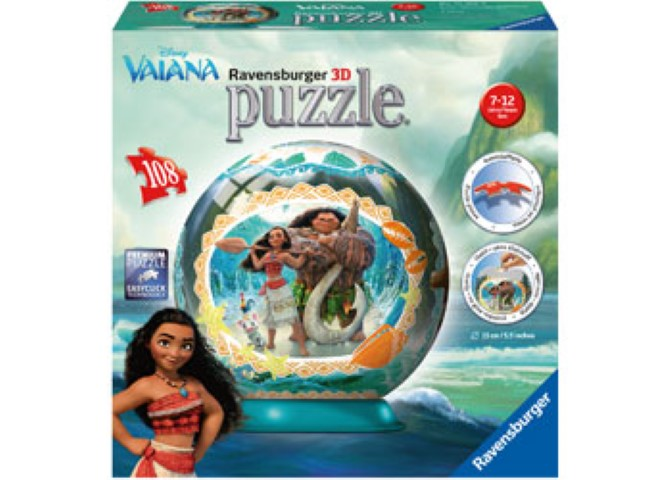 Disney Vaiana 3D Puzzle 108pc