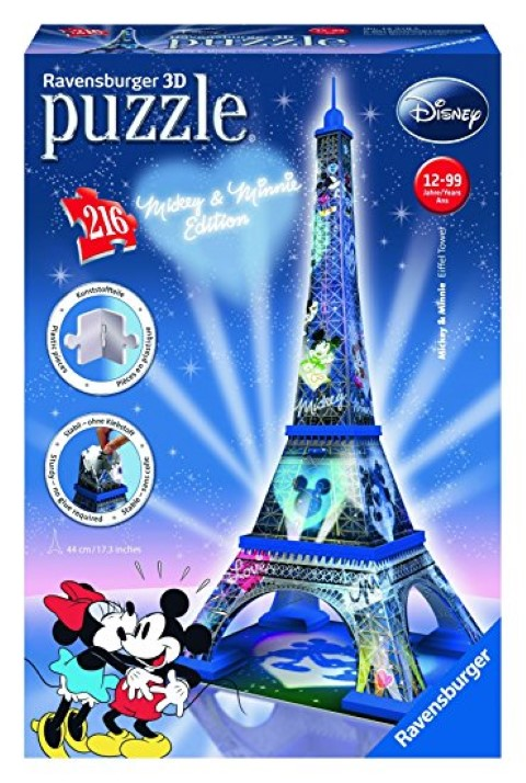Mickey and Minnie Eiffel Tower 3D Puzzle 216pc