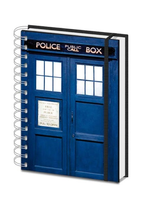 Doctor Who  Tardis A5 Notebook