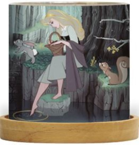 Disney Mini Glass Lantern Sleeping Beauty