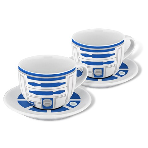 Star Wars - R2D2 Set of 2 Teacups and Saucers