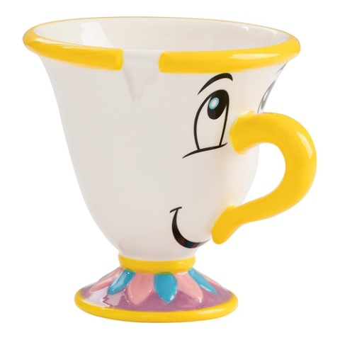 Beauty & The Beast Chip Sculpted Ceramic Mug