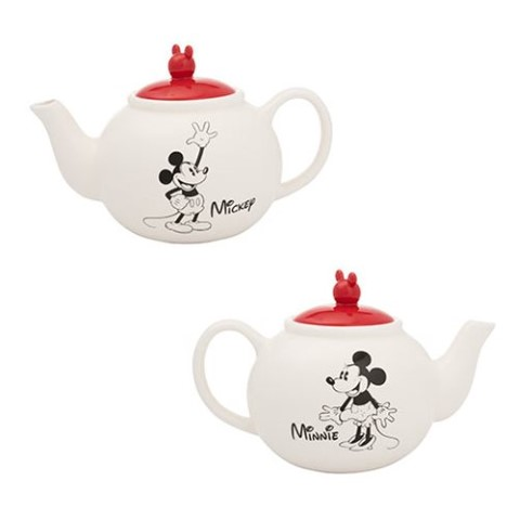 Mickey & Minnie Mouse Sculpted Ceramic Teapot