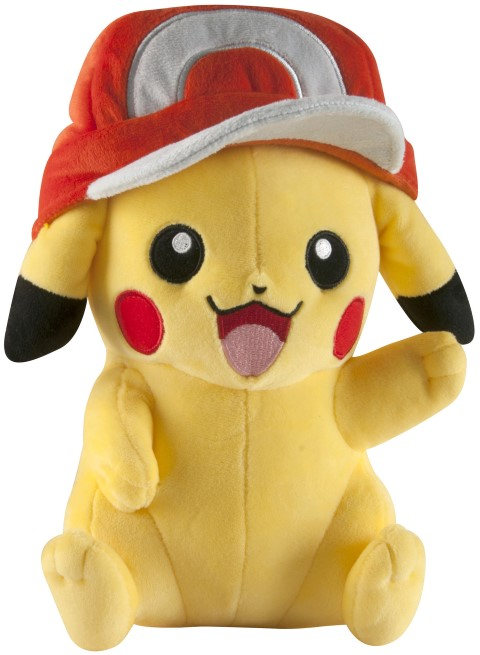 Pokemon Pikachu with Ash Hat Large Plush