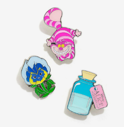 Alice in Wonderland Enamel Pin Set