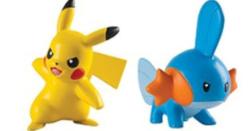 Pokemon Action Pose Figures Mudkip and Pikachu