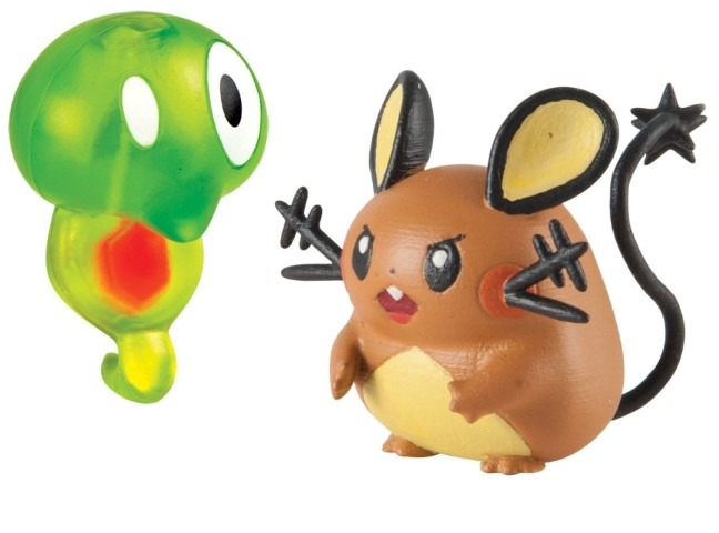 Pokemon Action Pose Figures Zygarde Core vs Dedenne