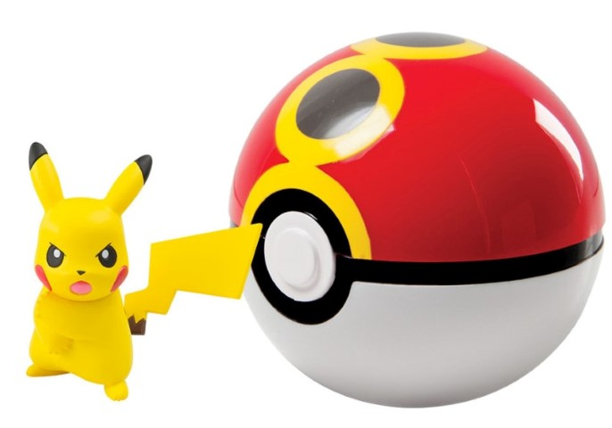 Pokemon Clip n Carry Pokeball Pikachu & Repeat Ball